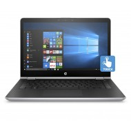 HP Notebook Convertibile, Intel Pentium Gold 4415U, RAM da 8 GB, SSD da 128 GB, Argento Naturale