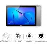 Huawei Mediapad T3 10 Tablet Wi-Fi, CPU Quad-Core A53, 2 GB RAM, 16 GB, Display da 10 Pollici, Grigio