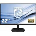 "Philips Monitor 223V5LHSB2 Monitor LCD-TFT per PC Desktop 21,5"" LED, Full HD, 1920 x 1080, 5 ms, HDMI, VGA, Attacco VESA, Nero"
