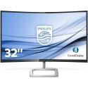 "Philips 328E9QJAB Gaming Monitor Curvo LED da 32"", FHD VA, Freesync 75 Hz, 4 ms, HDMI, Display Port, VGA, Casse Integrate"