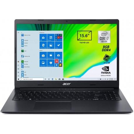 "Acer Aspire 3 A315-57G-75J7 Pc Portatile, Notebook Intel Core i7-1065G7, Ram 16 GB DDR4, 512 GB PCIe NVMe SSD, Display 15.6"""
