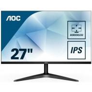 """Monitor LED da 27"""", Pannello IPS, FHD, 1920 x 1080, VGA, HDMI, Senza Bordi, Nero"""