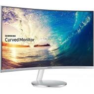Monitor Curvo, 27'', 1920 x 1080, 4 ms, Freesync, D-sub, HDMI, Flicker Free, FreeSync, Modalità Gioco, Bianco/Argento